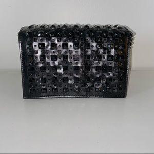 Zara Woman Black Stones Chain Crossbody Purse
